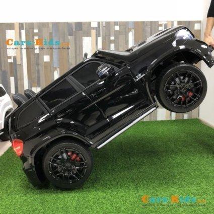 Электромобиль Mercedes-Benz GLS 63 AMG 4WD MP4 белый (сенсорный дисплей MP4, 2х местный, колеса резина, сиденье кожа, пульт, музыка)