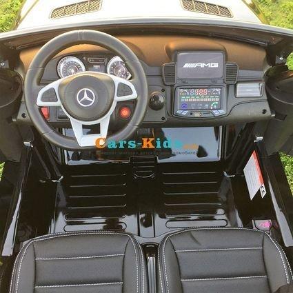 Электромобиль Mercedes-Benz GLS 63 AMG 4WD красный (2х местный, колеса резина, сиденье кожа, пульт, музыка)