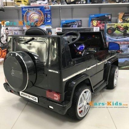 Электромобиль Mercedes-Benz G65 Black LS-528 черный (колеса резина, кресло кожа, пульт, музыка)